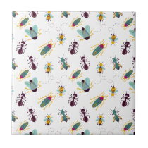 cute little bugs insects ceramic tile
