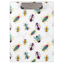 cute little bugs insects clipboard