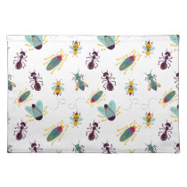 cute little bugs insects cloth placemat