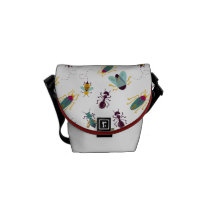 cute little bugs insects courier bag