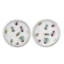 cute little bugs insects cufflinks
