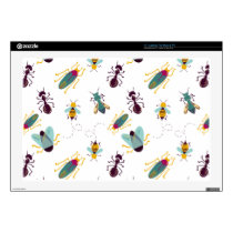 "cute little bugs insects decal for 17"" laptop"