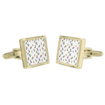cute little bugs insects gold cufflinks