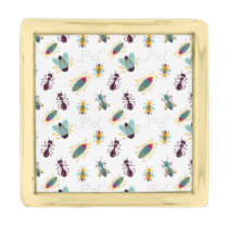 cute little bugs insects gold finish lapel pin