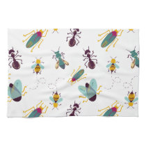 cute little bugs insects hand towel