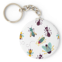 cute little bugs insects keychain