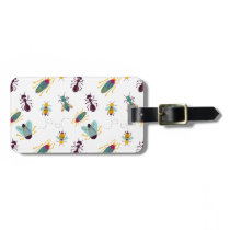 cute little bugs insects luggage tag