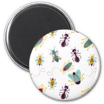 cute little bugs insects magnet