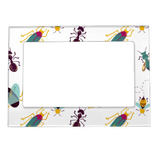 cute little bugs insects magnetic frame
