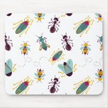 cute little bugs insects mouse pad