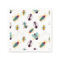 cute little bugs insects paper napkin