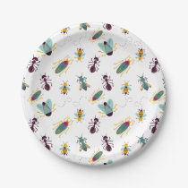 cute little bugs insects paper plate