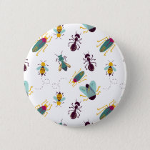 cute little bugs insects pinback button