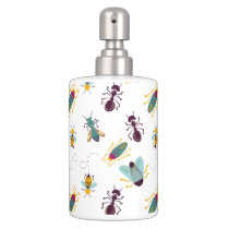 cute little bugs insects soap dispenser & toothbrush holder
