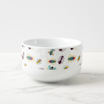 cute little bugs insects soup mug