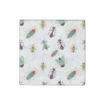 cute little bugs insects stone magnet