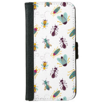 cute little bugs insects wallet phone case for iPhone 6/6s