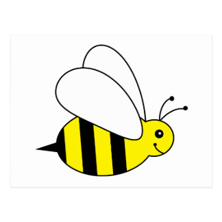 Cute Little Bumble Bee Honey Farm Postcard