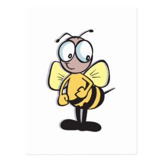 cute little bumble bee postcard