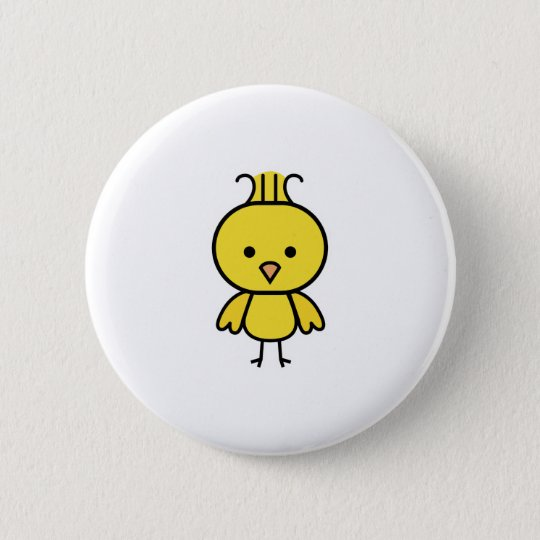 cute little canary pinback button