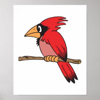 cute little cardinal print