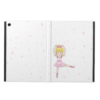 Cute Little Cartoon Ballerina Girl in Pink iPad Air Case