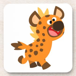 Cute Little Cartoon Hyena Coasters Set