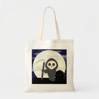 Cute Little Cartoon Skeleton Grim Reaper Canvas Bag