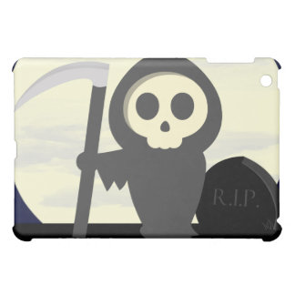 Cute Little Cartoon Skeleton Grim Reaper iPad Mini Case