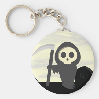 Cute Little Cartoon Skeleton Grim Reaper Keychain