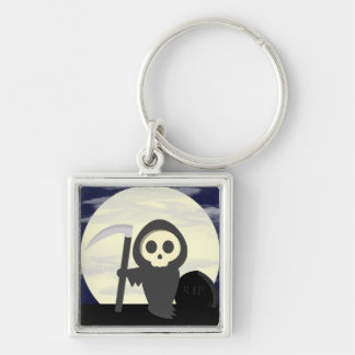 Cute Little Cartoon Skeleton Grim Reaper Key Chain