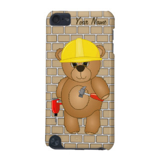 Cute Little Cartoon Teddy Bear Handyman with Tools iPod Touch (5th Generation) Cover