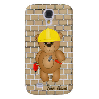 Cute Little Cartoon Teddy Bear Handyman with Tools Samsung Galaxy S4 Case