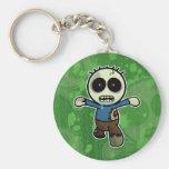Cute Little Cartoon Zombie Basic Round Button Keychain