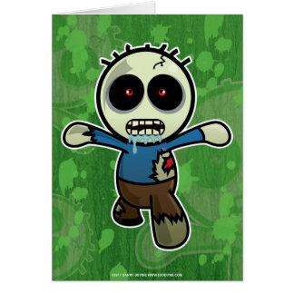 Cute Little Cartoon Zombie Greeting Card