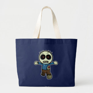 Cute Little Cartoon Zombie Large Tote Bag