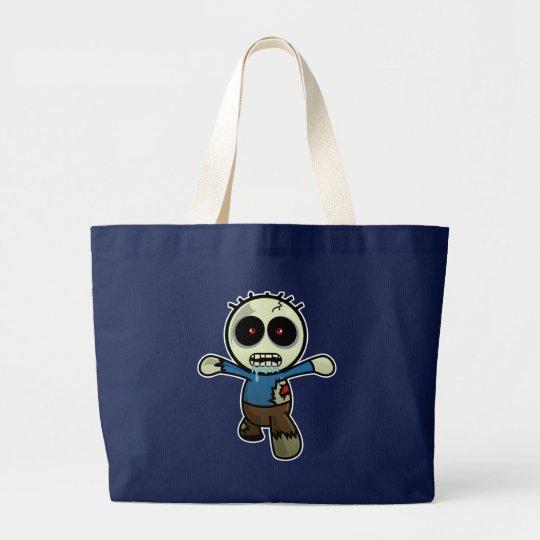 Cute Little Cartoon Zombie Large Tote Bag