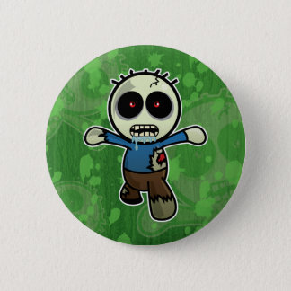 Cute Little Cartoon Zombie Pinback Button