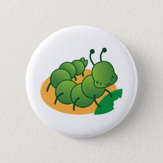 cute little catterpillar kawaii button
