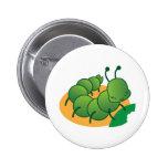 cute little catterpillar kawaii pinback buttons
