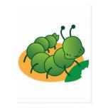 cute little catterpillar kawaii post cards