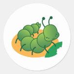 cute little catterpillar kawaii stickers