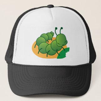 cute little catterpillar kawaii trucker hat