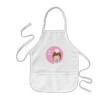 Cute Little Chef Baker Girl Kids' Apron