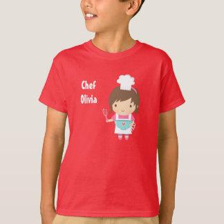 Cute Little Chef Baker Girl T-Shirt