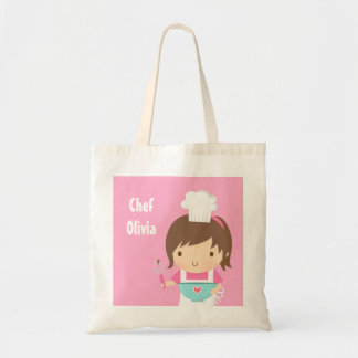 Cute Little Chef Baker Girl Tote Bag