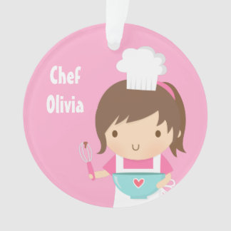Cute Little Chef Baker Girls Room Decor Ornament
