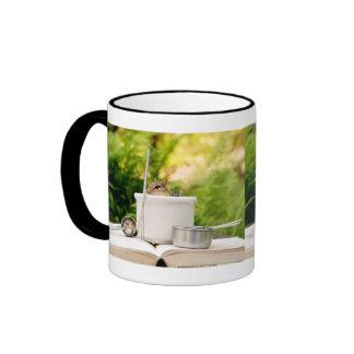 Cute Little Chef Chipmunk Ringer Coffee Mug
