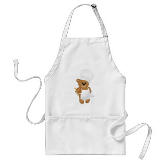 Cute Little Chef Costume Teddy Bear Cartoon Adult Apron