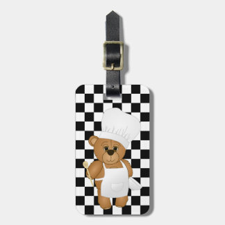Cute Little Chef Costume Teddy Bear Cartoon Bag Tag
